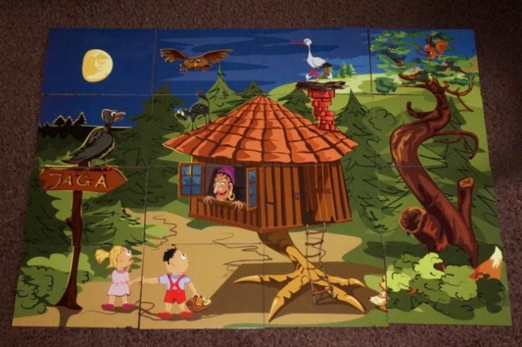 Układanka edukacyjna Domek w lesie