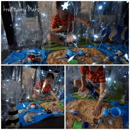 Zabawy tematyczno-sensoryczne pod stołem - Ocean